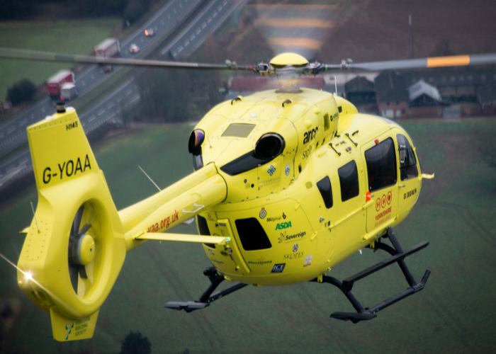Yorkshire Air Ambulance  announced as 2019 Partner Charity